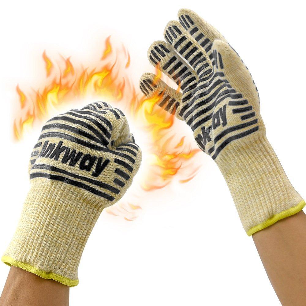 Ankway Guantes anticalor para chimeneas, estufas y para barbacoa, 932°F