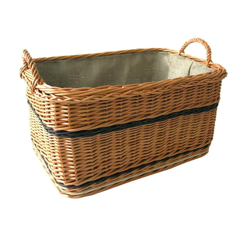 Cestas y Mas Cesta de leña (rectangular, marrón, T 60 cm x B 40 cm x h 31 cm ret