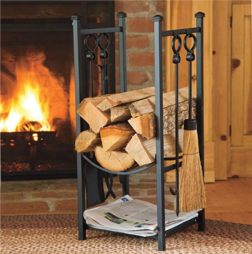 Cualgautiles, portautiles y kit de accesorios para chimeneas y estufas