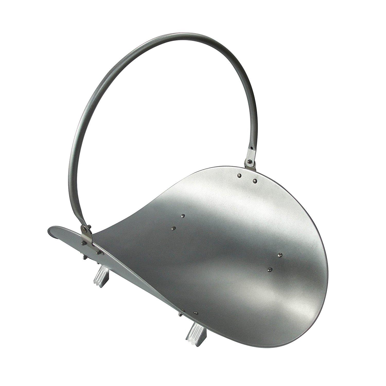 Premier Housewares - Cesto (metal, 40 x 39 x 38 cm), color plateado