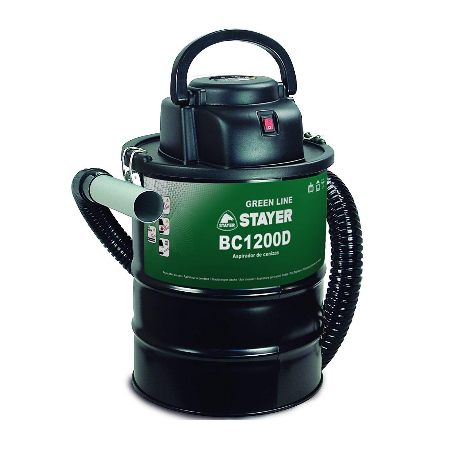 Stayer BC 1200D - Aspirador de cenizas para chimeneas y barbacoas