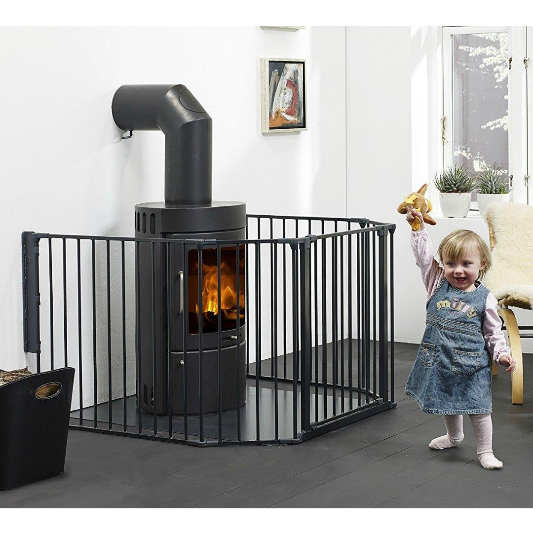 Baby Dan - Barrera de seguridad modulable flex xl - negro