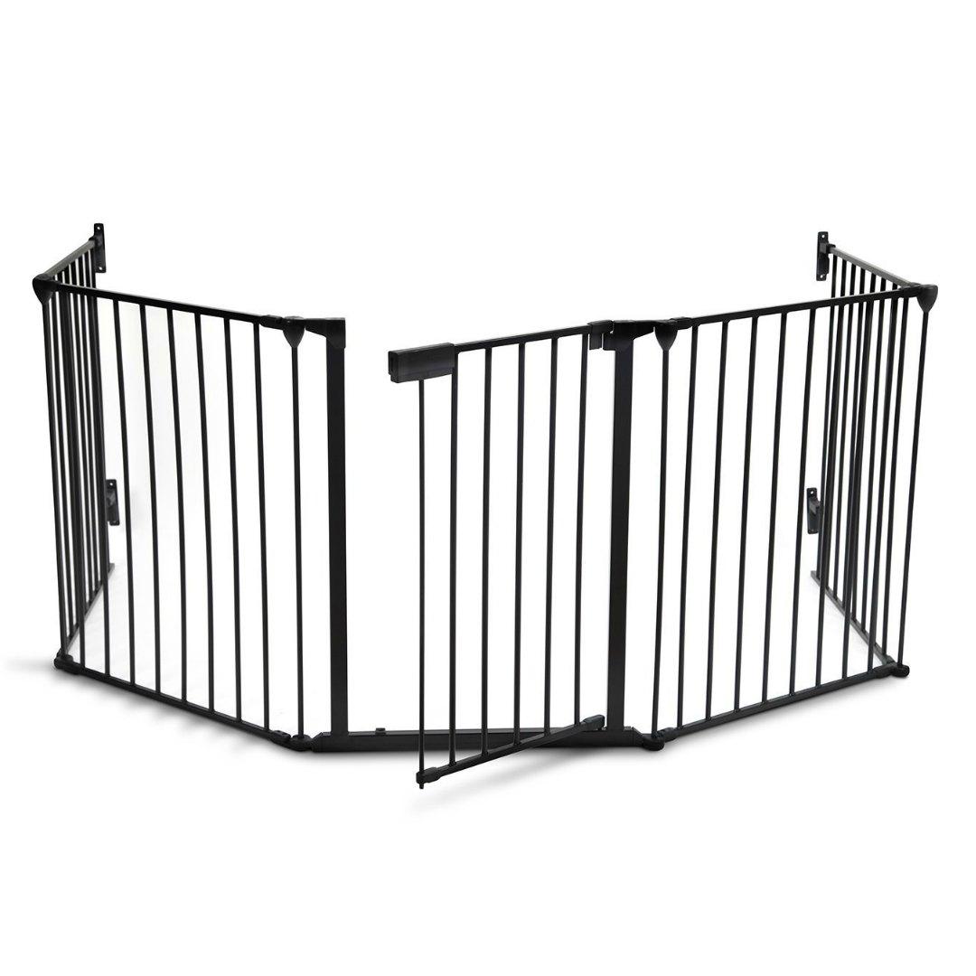 Kenley Barrera Protectora Reja de Protección para Chimenea con Puerta