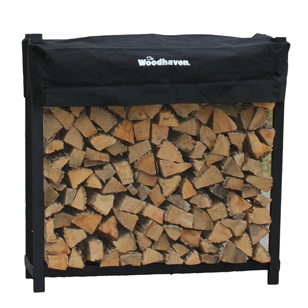 Woodhaven - Aparador resistente para leña con cubierta, 1,22 m 121,9 x 35,6 x 121,9 cm ; 15 Kg