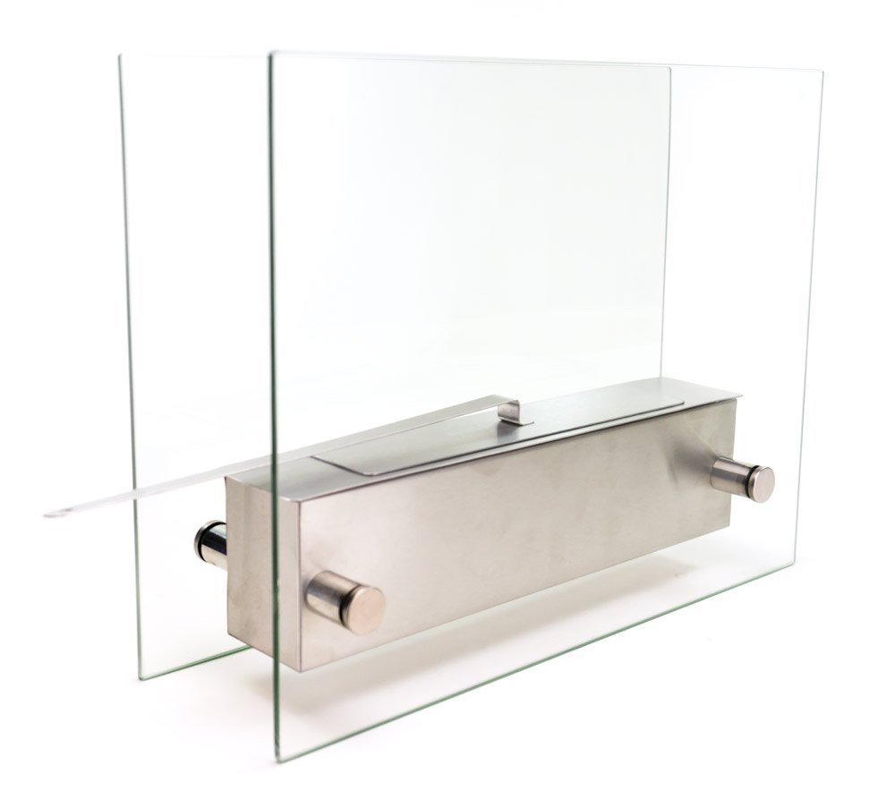 Chimenea de mesa de cristal con soportes Minimaliste de Bioethanol