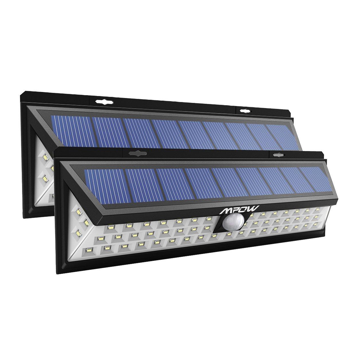 Mpow Foco Solar Exterior,Luces Solares Jardín 54 LED