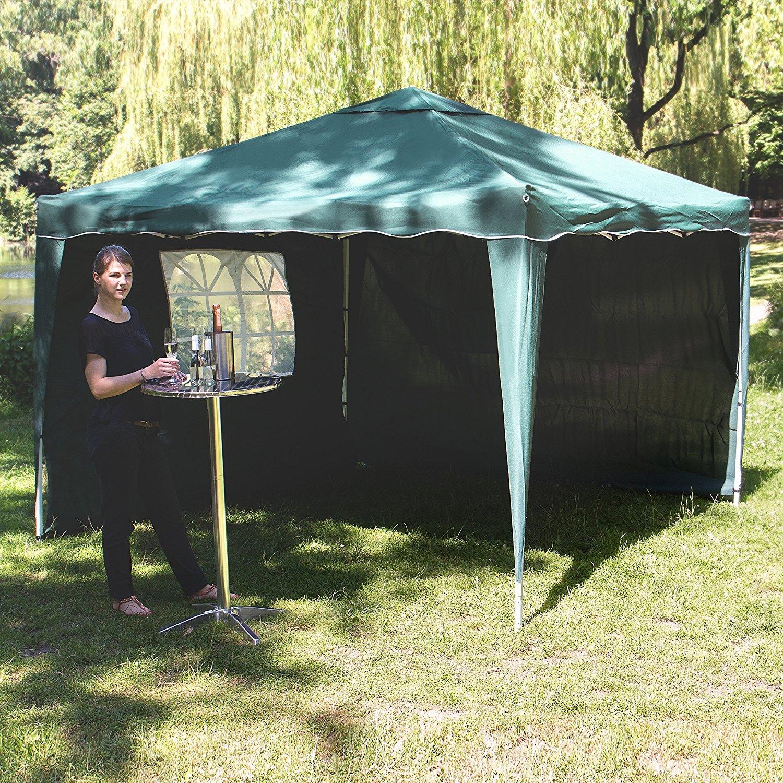 Pérgola de jardín Vanage vg-8446 300 x 300 x 260 cm Gazebo – verde