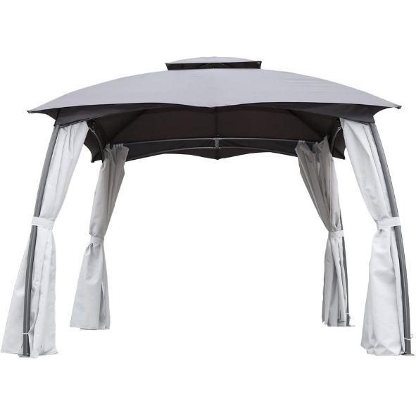Angel Living Cenador de Acero con Techo al Aire Libre, Pabellón con Diseño Elegante y Estable, Gazebo
