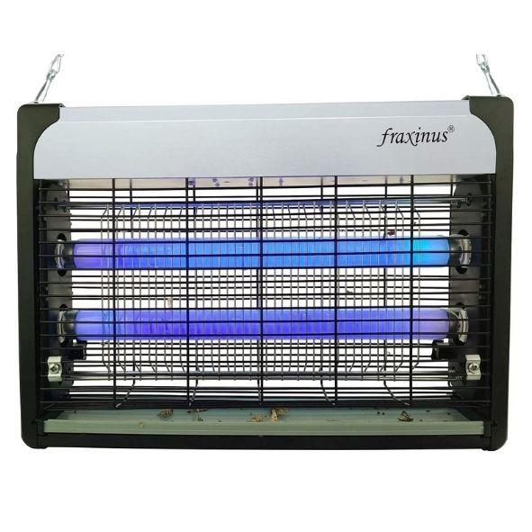 fraxinus Matamoscas Electrico, Lampara Antimosquitos Electrico Luz Ultravioleta 20W Atrapa Insectos Eliminador, Ultra Delgado